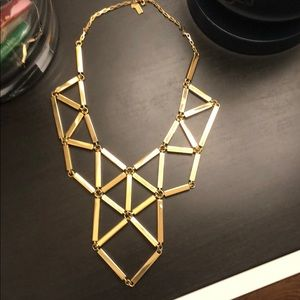 Kate Spade Gold Art Deco Statement Necklace